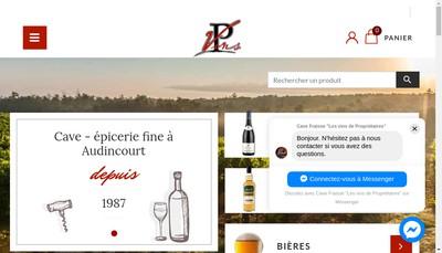 Site internet de Les Vins de Proprietaires