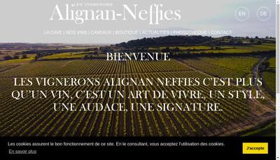Site internet de SAS Alignan du Vent Cepages