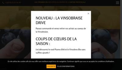 Site internet de La Vinsobraise