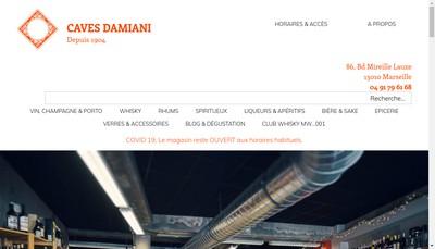 Site internet de Caves Damiani