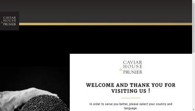 Site internet de Caviar House & Prunier (France)