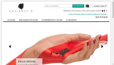 Site internet de Caviarly'S