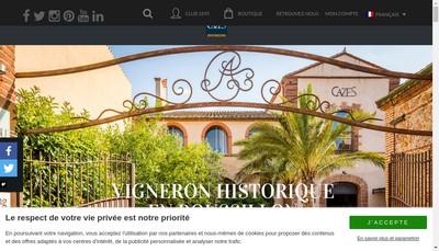 Site internet de Cazes