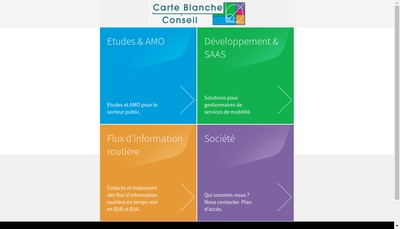 Site internet de Carte Blanche Conseil