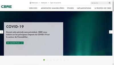Site internet de Cbre Holding