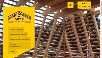 Site internet de Charpente Couverture du Layon
