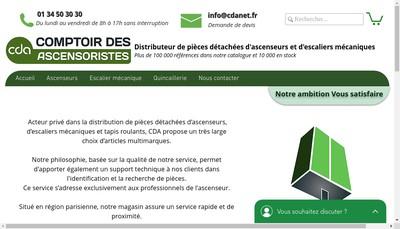 Site internet de Comptoir des Ascensoristes