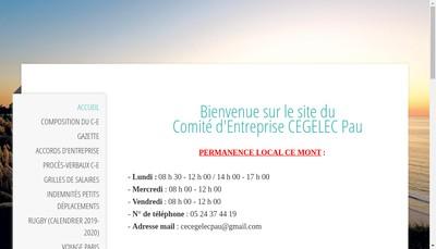 Site internet de Cegelec Pau