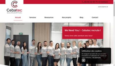 Site internet de Cebatec