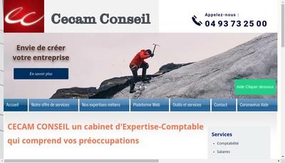 Site internet de Cecam Conseil