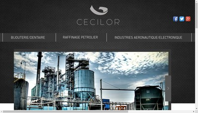 Site internet de Cecilor Developpement