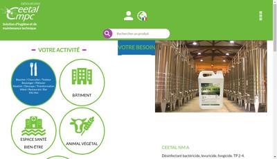 Site internet de Laboratoires Ceetal Cmpc