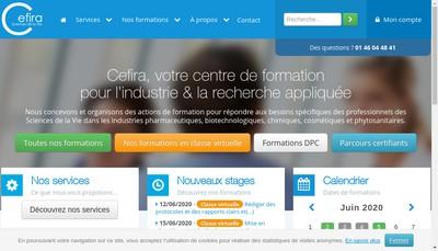 Site internet de Centre de Formation pour l'Industrie et la Recherche Appliquee