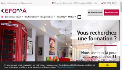 Site internet de Centre de Formation du Management