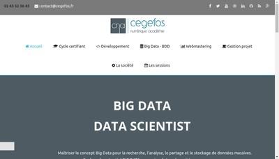 Site internet de Cegefos Numerique Academie - Cna