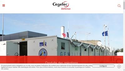 Site internet de Cegelec Defense