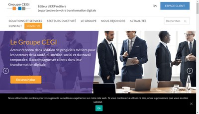 Site internet de Cegi-Sante