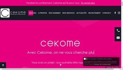 Site internet de Cekome 67