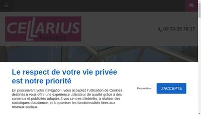 Site internet de Cellarius Habitat