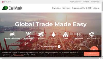 Site internet de Cellmark Papier SAS