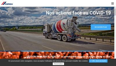 Site internet de Cemex Betons Rhone-Alpes