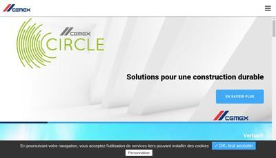Site internet de Cemex Granulats Sud Ouest