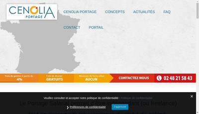 Site internet de Cenolia Portage