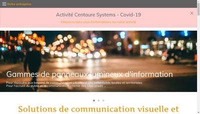 Site internet de SA Centaure Systems