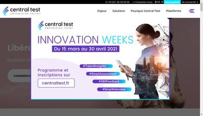 Site internet de Central Test