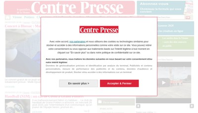Site internet de Centre Presse
