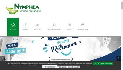 Site internet de Centre Aquatique Nymphea