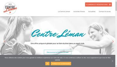 Site internet de Centre Leman