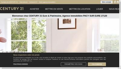 Site internet de SARL Eure & Patrimoine