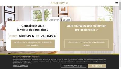 Site internet de Century 21 Cabinet Magalhaes