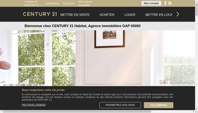 Site internet de Century 21 Habitat