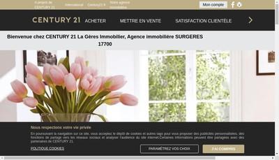 Site internet de Century 21 la Geres Immobilier