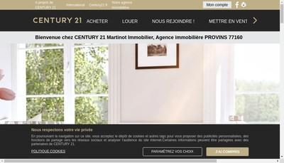 Site internet de Century 21 Martinot Immobilier SARL