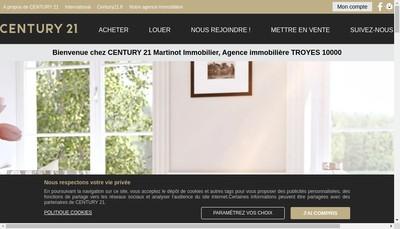 Site internet de Century 21 Martinot Immobilier