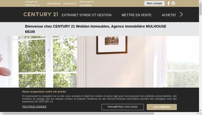 Site internet de Century 21 Weiblen Immeubles