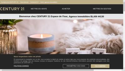 Site internet de Century 21 Espace de l'Isac