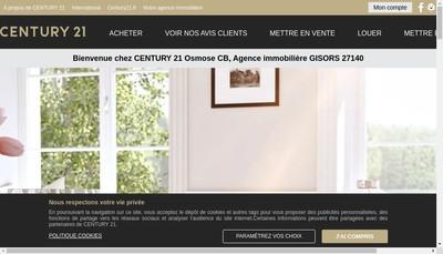 Site internet de Century 21 Osmose Cb
