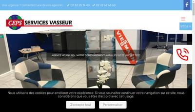 Site internet de Ceps Services Vasseur