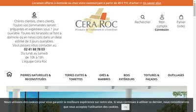 Site internet de Crea Roc