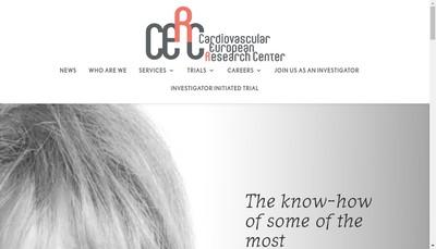 Site internet de Centre Europeen de Rech Cardiovasculaire