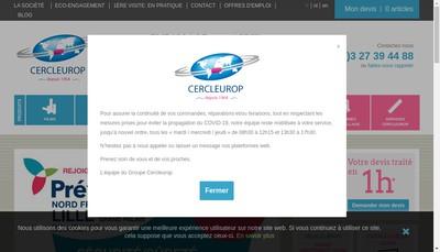 Site internet de Cercleurop Finances