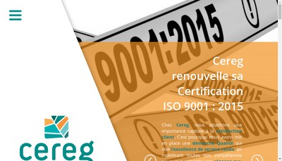 Site internet de Cereg Ingenierie