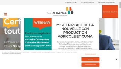 Site internet de Cerfrance Grand Ouest