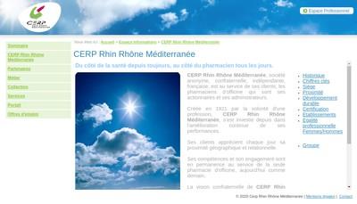 Site internet de Cerp Rhin Rhone
