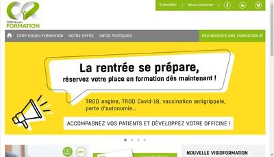 Site internet de Cerp Rouen Formation
