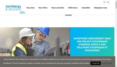 Site internet de Certinergy